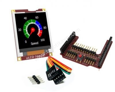 1.44′′-Arduino-LCD-Display-Shield---uLCD-144G2-AR